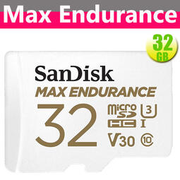 SanDisk 32GB 32G microSDHC【Max Endurance】microSD V30 錄影記憶卡