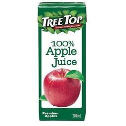 TREE TOP 樹頂 100%純蘋果汁200ml(利樂包)*6瓶