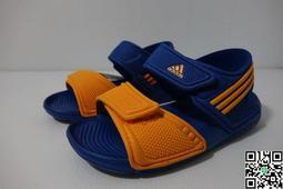 =小綿羊= ADIDAS AKWAH 9 K 藍橘黃 S74648 愛迪達 中童 涼鞋 水鞋 17-22cm