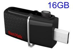 公司貨 Sandisk 16GB 16G OTG micro USB 3.0 雙用隨身碟 SDDD2-016G