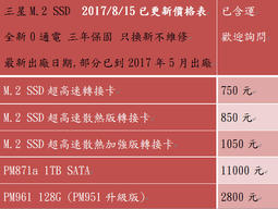 ★三年保最殺↘ SSD m.2 Samsung 三星 pm sm951 sm961 256G 512G GB 1TB