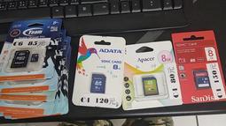 SanDisK TEAM APACER ADATA 8G C4 C6 記憶卡 圖片有價格