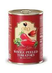 義大利原裝進口 ORO 去皮 整粒番茄 400g (小罐) 製作義大利麵醬必備