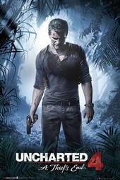 【英國進口線上遊戲海報】秘境探險 4:盜賊末路 Uncharted 4 (A thiefs end) #FP3710