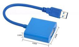 全新 USB 轉 VGA USB顯示卡 支援多重螢幕輸出 現貨 是黑色的哦