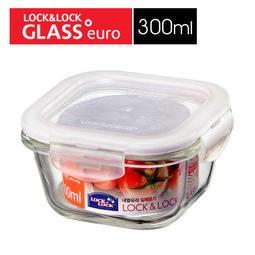 LLG205 樂扣樂扣 LOCK 耐熱玻璃保鮮盒正方形300ML/白 玻璃保鮮盒 樂扣玻璃保鮮盒 樂扣耐熱玻璃保鮮盒