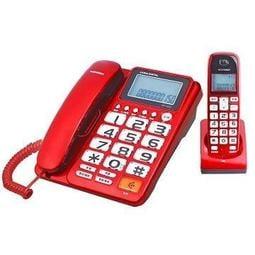 【山山小鋪】WONDER旺德2.4G超大字鍵數位無線電話 WT-D03