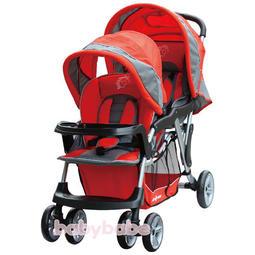恩典滿溢小舖 [babybabe] B329歐風雙人嬰兒手推車**紅色**