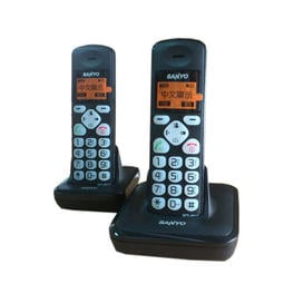 【101-3C數位館】SANYO 中文顯示DECT 數位無線話機 DCT-9912黑/紅