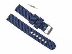 柔軟透氣 DW CK {瑞士錶 機械錶} 手錶錶帶 深藍色 18mm FA-34741