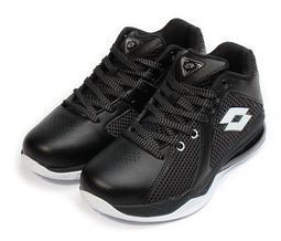 【艾咪】LOTTO 樂得 Vortex 旋風 輕量飛織氣墊籃球鞋 黑白LT7AMB5770 出清