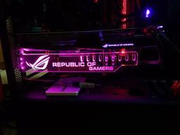 萊特 電腦精品 顯卡壓克力支架 帶7彩RGB可調 適合 GTX 1080 海盜 ROG MSI 電競 水冷 nxzt
