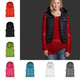 美國潮流品牌Abercrombie Fitch新款百分百羽絨冬女款 AF毛領帶帽羽絨服 羽絨馬甲 羽絨背心外套