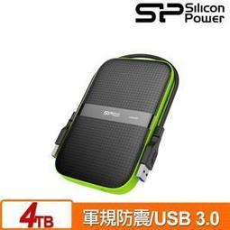 含發票 SP廣穎 Armor A60 4TB(黑綠) IPX4防水2.5吋軍規防震行動硬碟