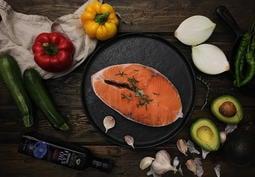 鮭魚切片真空包