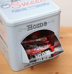 ForMe;美式圖案茶包收納罐~多款可選 機關收納鐵盒長款造型金屬盒咖啡收納盒 茶包架
