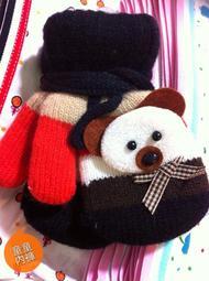 童童內褲 保暖針織造型手套 嬰兒兒童用-小熊