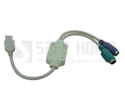 【Safehome】全新包裝 USB to PS/2 轉接線/轉接頭,可用於 PS/2 鍵盤、滑鼠、掃描槍、掃描器、條碼機!CU0802