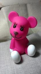 【日本正版中國製造】PostPet momo 熊 塑膠存錢筒/擺飾(N020)