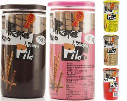 5種口味 黑師傅 黑師傅捲心酥-巧克力 草莓 牛奶 花生 黑糖 280g/罐