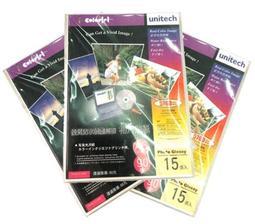 相片紙 UNITECH A6 15入 防水_天工電腦