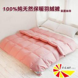 【123 生活館】凱蕾絲帝-台灣製造~耐寒5℃純天然羽絨被(雙人6*7尺)兩色可選