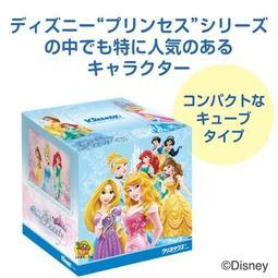 【JPGO日本購】日本製 Kleenex 舒潔 迪士尼公主款 日本境內限定 抽取式面紙/衛生紙 80抽#501