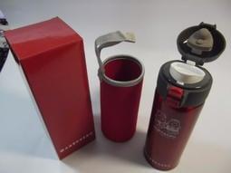 [股東會紀念品暢貨中心] 107 上海銀 316 不鏽鋼 真空彈蓋保溫瓶 350ml (含布套)