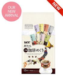 【日本限定款】日本UCC無糖咖啡 旅咖啡12袋入/ 包 旅人咖啡 旅人版上島香醇綜合濾掛式研磨咖啡 濾泡式手沖黑咖啡