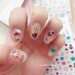 卡通造型指甲貼紙 美甲 指甲貼 彩繪指甲 彩繪指甲貼 可愛指甲貼 角落生物 Kitty 皮卡丘 米奇 小叮噹 不二家