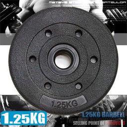 ◎狂推薦◎1.25KG水泥槓片C113-B2015(單片1.25公斤槓片.啞鈴片.槓鈴片.舉重量訓練.運動健身器材)