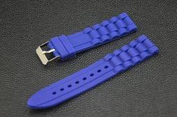 超值silicone 20mm矽膠錶帶不鏽鋼錶扣,雙錶圈 ck iwc seiko 寶藍