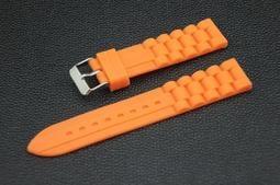 超值silicone 20mm矽膠錶帶不鏽鋼錶扣,雙錶圈 ck seiko 橘色