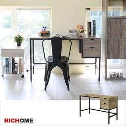 【RICHOME】♥現貨快速到♥《奈特雙抽工作桌》辦公桌 工作桌 筆電桌 桌子套房 辦公椅 電腦椅DE224