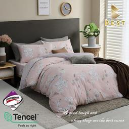 【BEST貝思特】現貨 3M頂級天絲床包組 (單人/雙人/加大/特大) 兩用被床包 TENCEL+3M弔牌 蜂之舞-粉