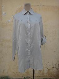 楹 ~ 正品 MASTER MAX 銀灰色 長版襯衫 size: 40