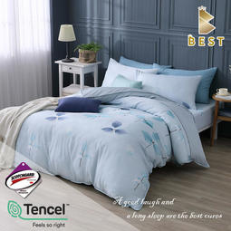 【BEST貝思特】現貨 3M頂級天絲床包組 (單人/雙人/加大/特大) 兩用被床包 TENCEL+3M弔牌 芬芳舞姿-藍