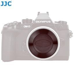 我愛買JJC銀黑國際Panasonic自動鏡頭蓋12-32mm F3.5-5.6自動蓋相容原廠DMW-FLC37鏡頭蓋