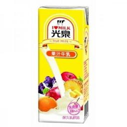 光泉果汁牛乳 200ml*24包/箱
