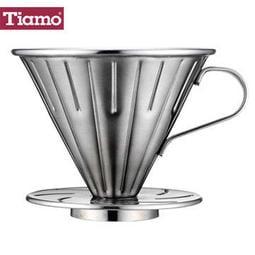 苗慄咖啡-HG5033】TIAMO 0916 V01 不鏽鋼咖啡濾杯組-附濾紙 量匙