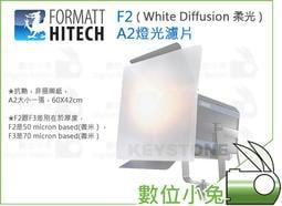 數位小兔【FORMATT F2 A2燈光濾片 ( White Diffusion 柔光 )】柔光紙 攝影燈 濾光片棚燈