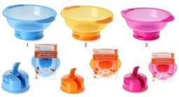 【貝貝媽咪美國團購村】美國Vital Baby Bowl拔不起來的學習碗 學習吃飯好工具---現貨區(黃色+紫色)