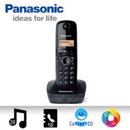 [總裁黑] 全新 Panasonic KX-TG1611 DECT數位無線電話 雙模來電顯示 螢幕背光燈 防指紋錶面