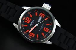 強悍sinn風格,台灣品牌, 歐馬仕不銹鋼小沛風大水壺不鏽鋼製錶殼石英錶pilot hamilton 橘