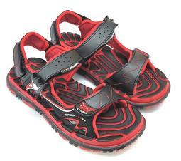 【菲瑪】G.P 透氣排水底 磁扣涼鞋 涼拖兩用 紅黑G5929B-14 出清