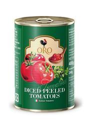 義大利原裝進口 ORO 去皮 切碎番茄丁 400g (小罐) 製作義大利麵醬必備