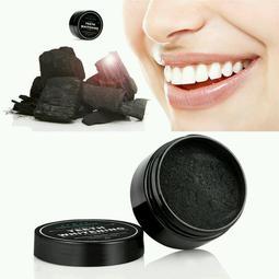 35g teeth whitening 牙粉,黒色洗牙粉,煙漬,活性炭,椰殼粉,竹炭。