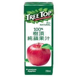 【免運直送】樹頂100%純蘋果汁200ml (24入/箱*)1箱(003)