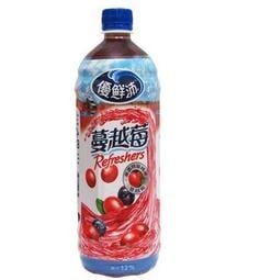 【免運直送】優鮮沛蔓越莓綜合果汁(980ml)*12入/1箱
