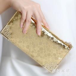 長夾手拿包 錢包女長款亮片皮錢夾手機包拉鏈手抓包 FR2324